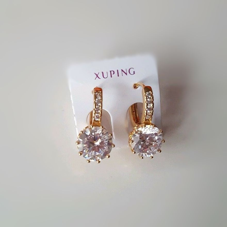 Women Real Gold Plated Earrings