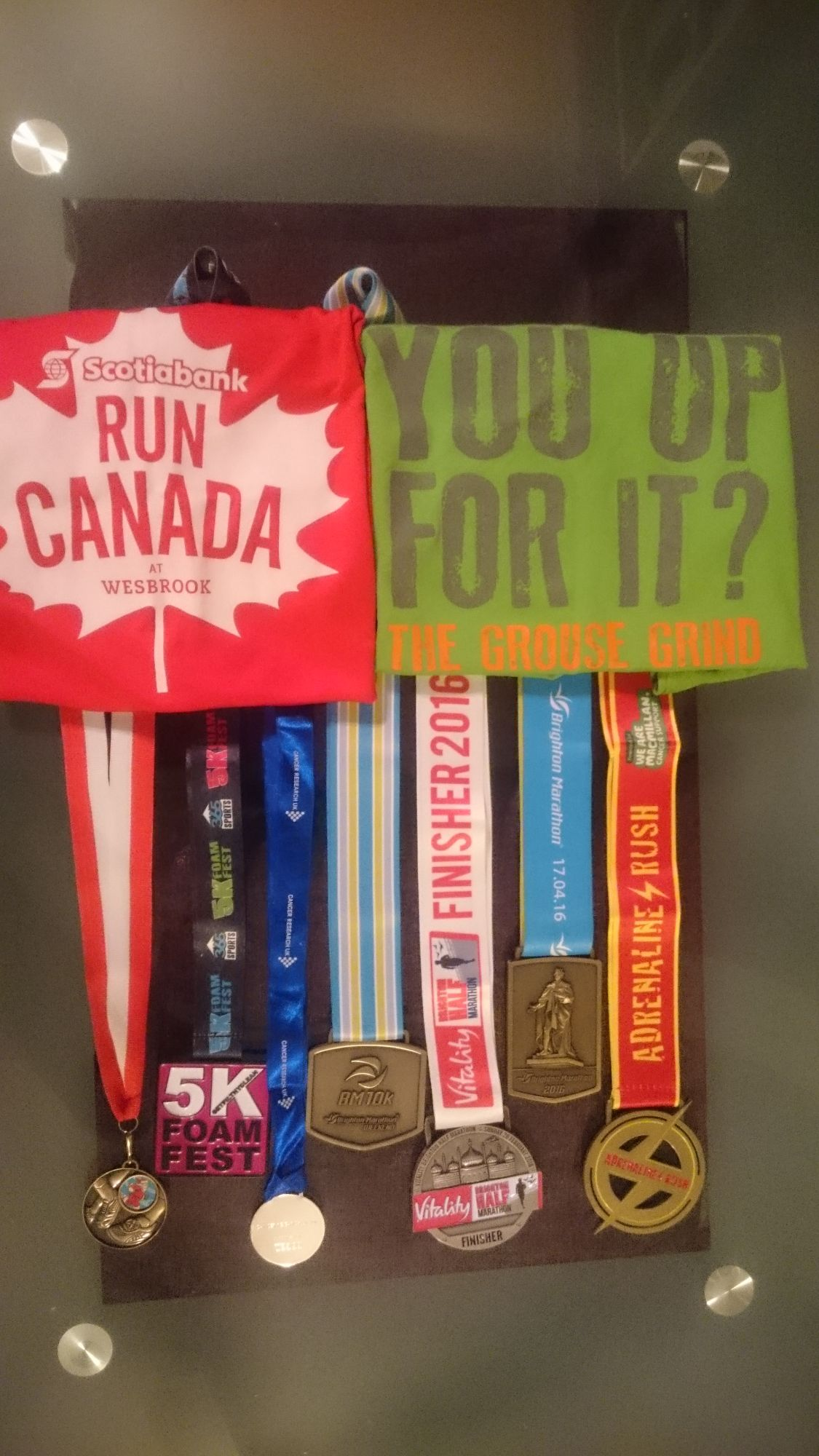 Medals and Shirts of Completion
