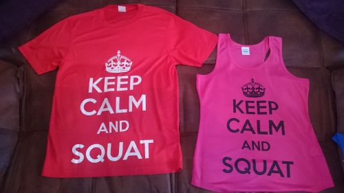 Training top - Keep Calm and SQUAT