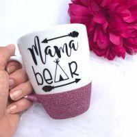Mama Bear Glitter Mug