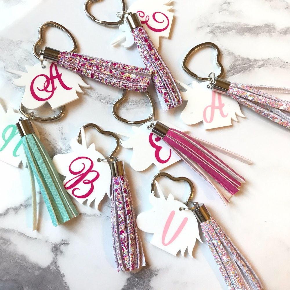 Unicorn Keyring with Tassel