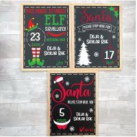 Personalised Chalkboard Christmas Countdown