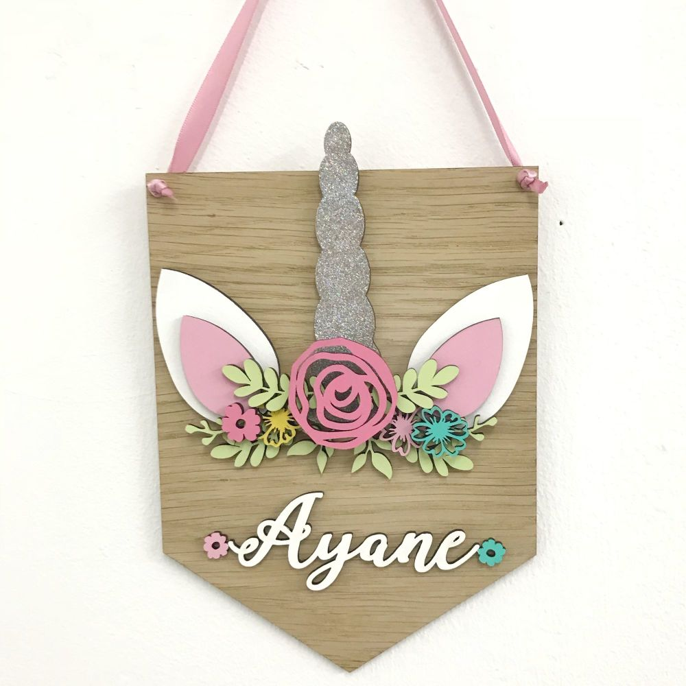 Personalised Unicorn Plaque
