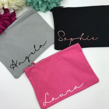Personalised Signature Makeup Bag