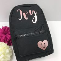 Personalised Backpack with heart