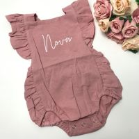 Personalised Ruffled Romper