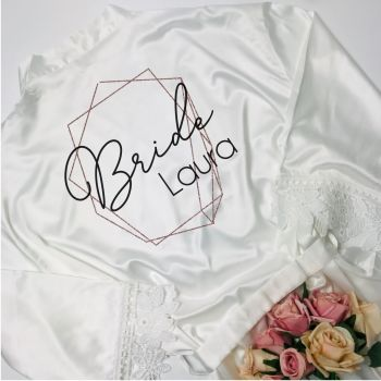 Lace Edge Bridal Party Robes