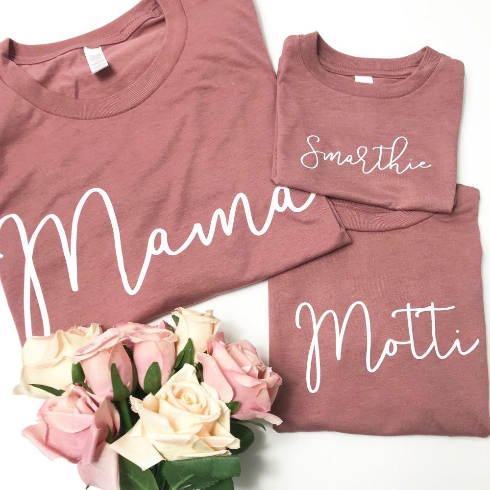 Mama & Mini Tees Script Font