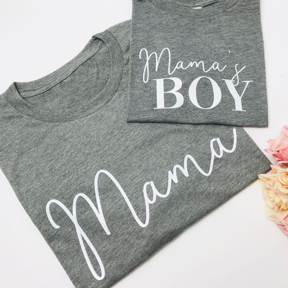 Mama and Mama's Boy Tee Set