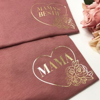 Mama and Mama's Bestie Tee Set FLORAL DESIGN
