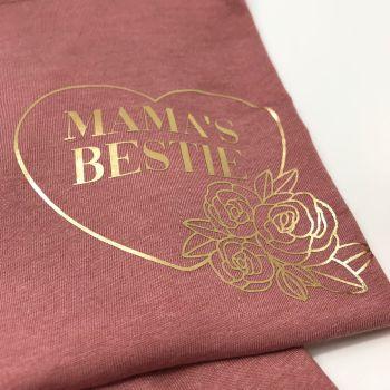 Mama's Bestie Tee FLORAL DESIGN