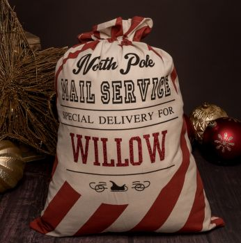 Red Stripes Christmas Sack