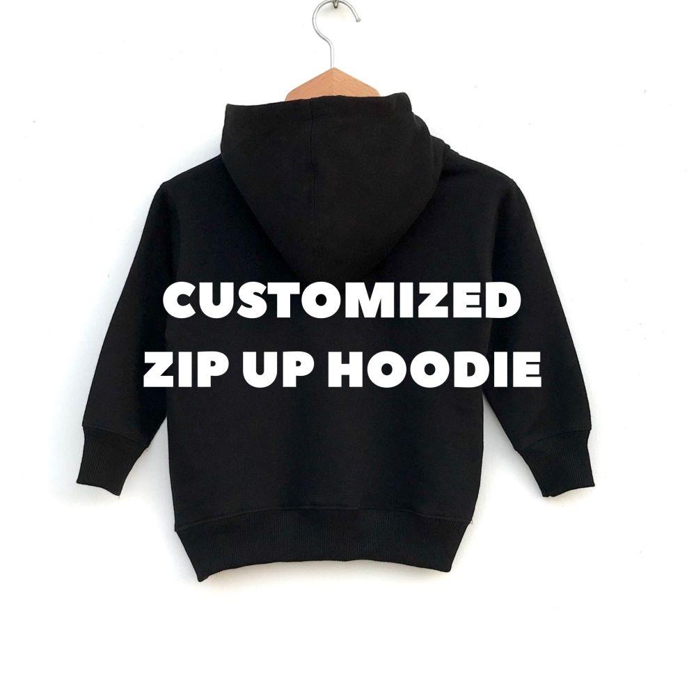 Customised Zip Up Hoodie