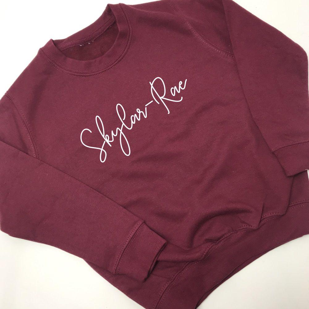 Name Sweatshirt