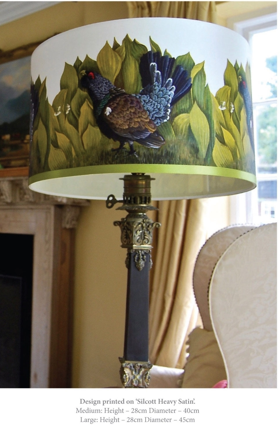 capercaillie lampshade