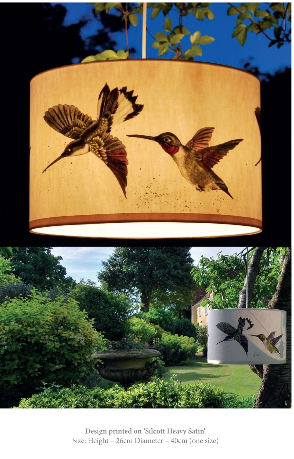 Hummingbirds lampshade