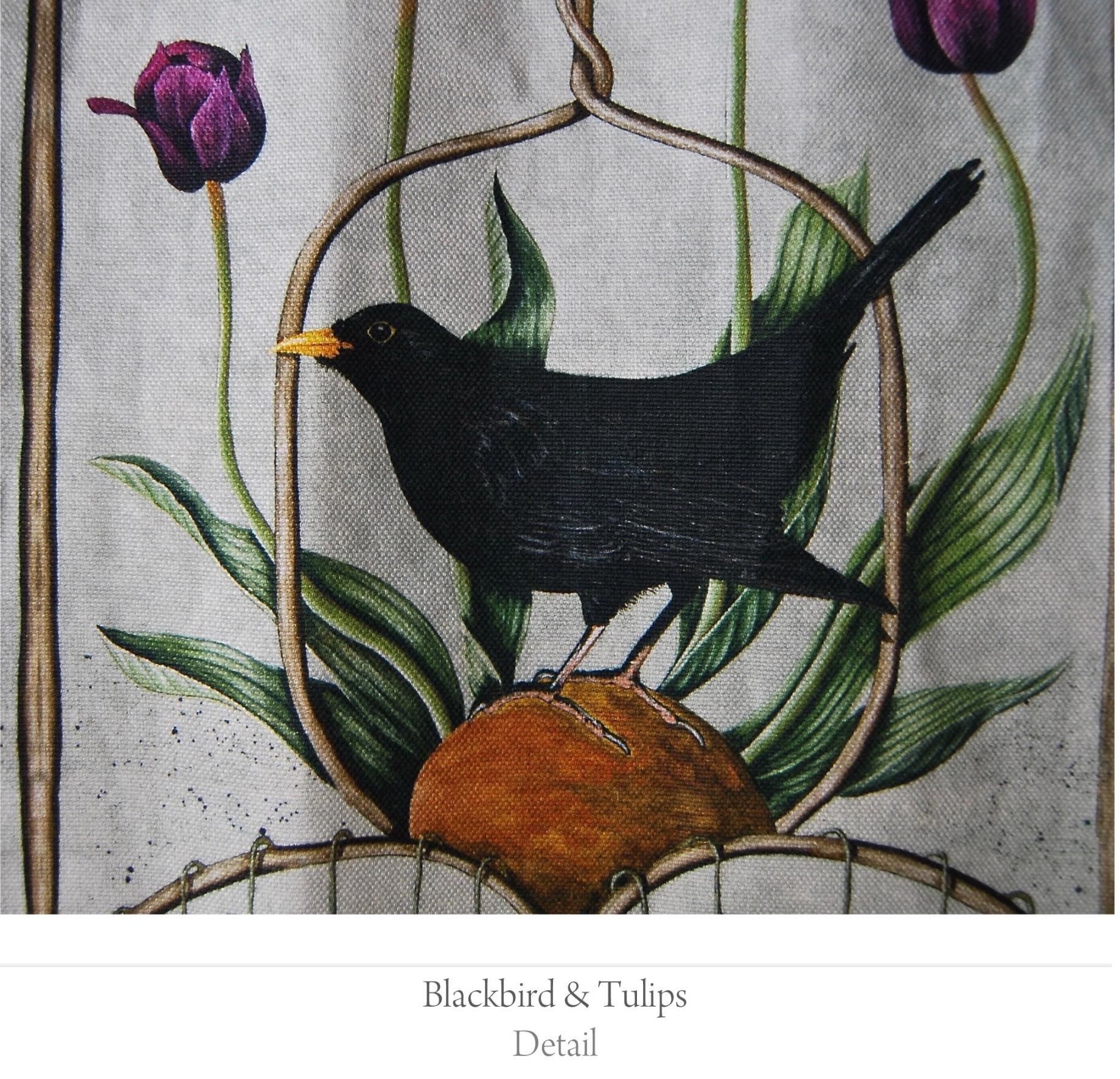 blackbird tulips