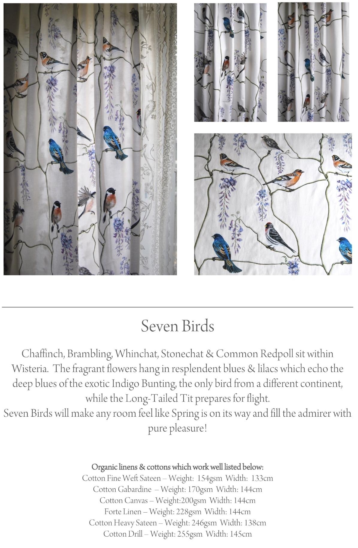 seven birds material