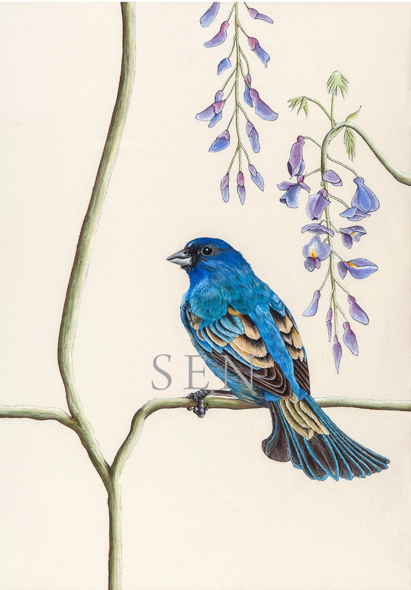 Bunting bird painting