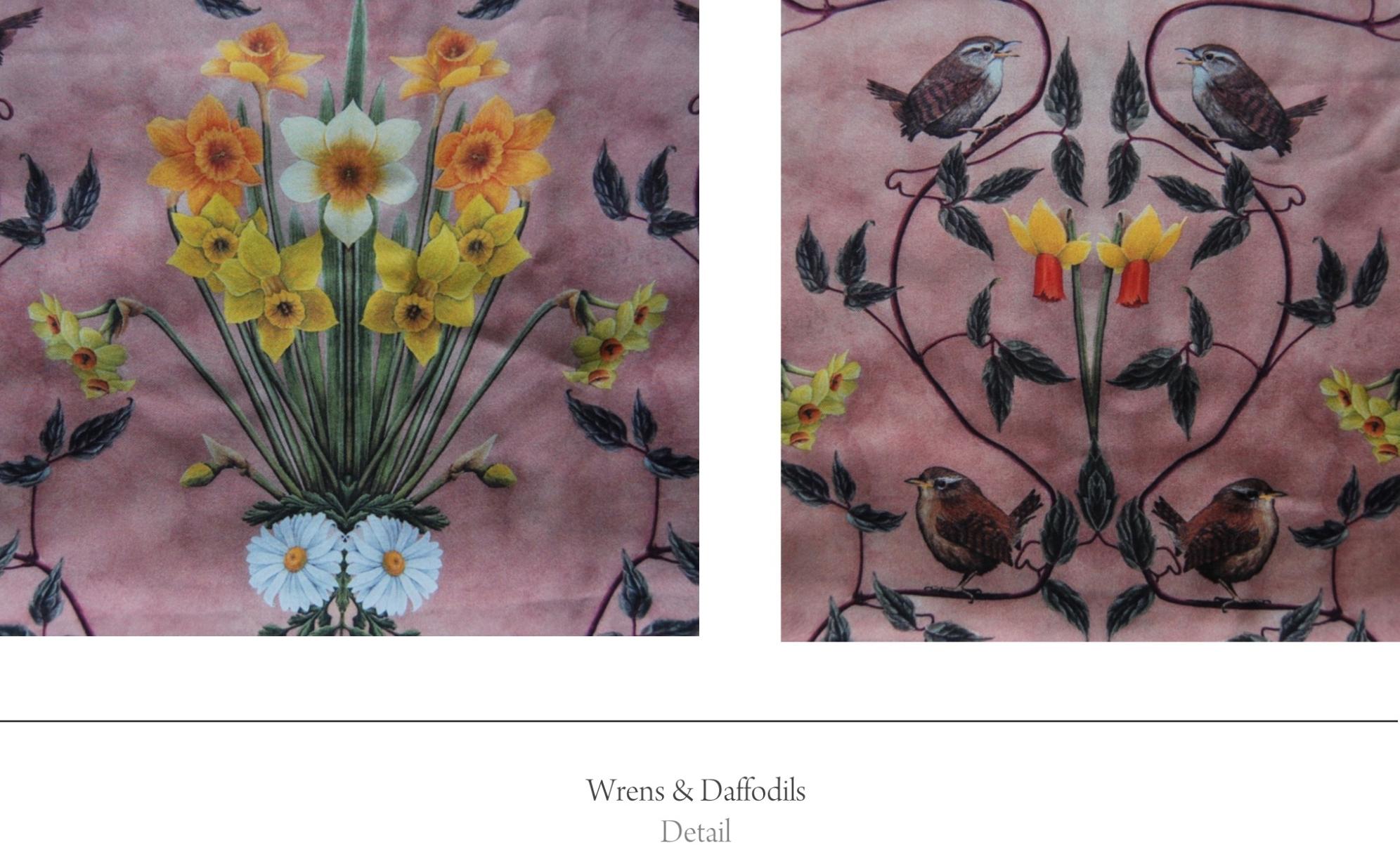 wrens bird fabric