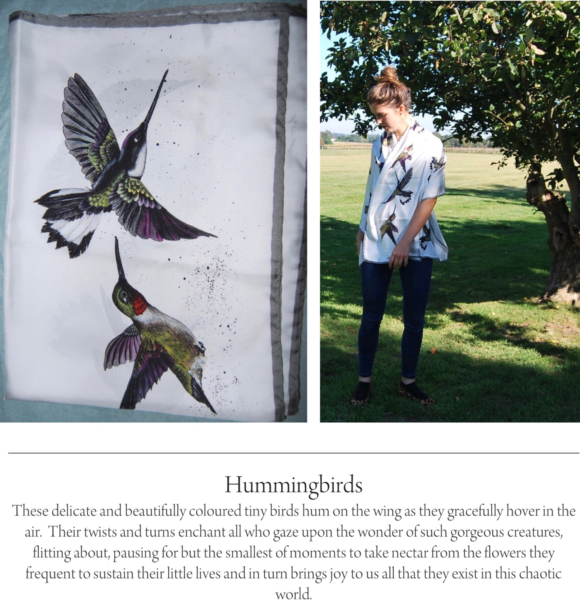 hummingbird silk