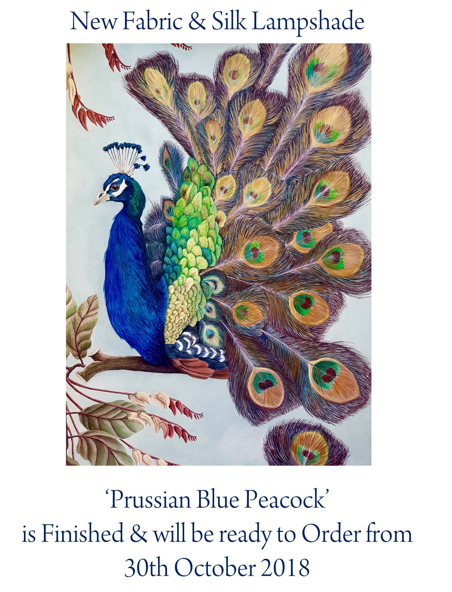Prussian Blue Peacock