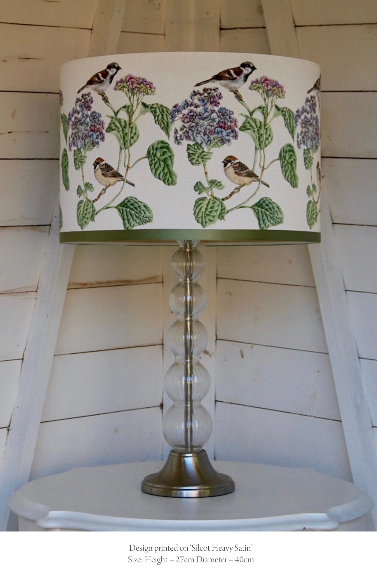 Sparrows bird lampshade