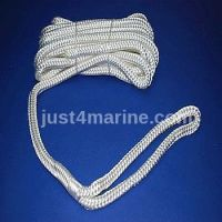 Mooring Deck Rope Line with Spliced Eye & Bag 10mm 6m White