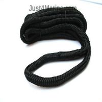 Mooring Deck Rope Line with Spliced Eye & Bag 12mm 7m Black