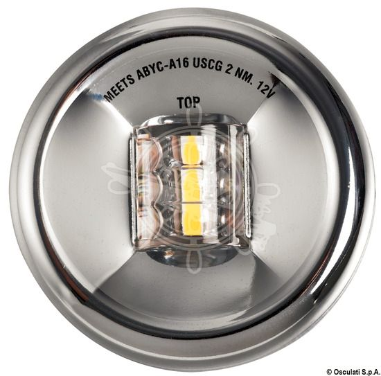LED Mouse Stern Navigation Light up to 20m 12V Stainless Steel Body