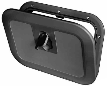 Boat Deck Inspection Access Hatch Black 380 x 280mm 180 Degree Opening