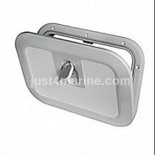 Boat Deck Inspection Access Hatch Grey RAL 7042 380 x 280mm