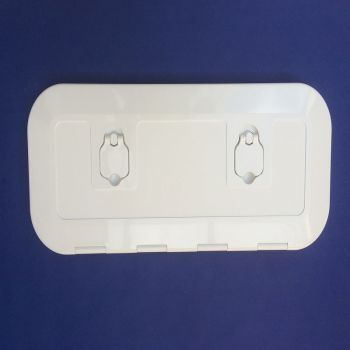 Deck Hatch White 600 x 250mm 180 Degree Opening Walk On UV