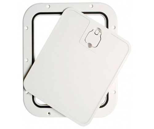 Deck Inspection Access Hatch White 305 x 355mm Removable Lid