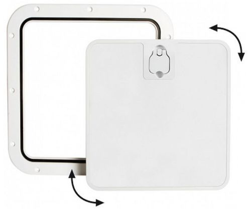 Deck Inspection Access Hatch White 375 x 375mm Removable Lid