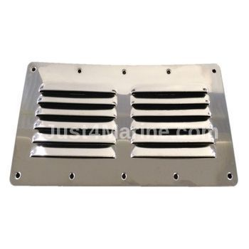 Louvred Air Vent 316 Stainless Steel 232 x 118mm