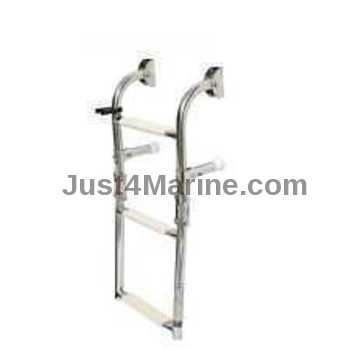 Ladder 316 Stainless Steel 3 Step. Wall Mount. Transom