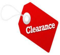 <!-- 016 --> CLEARANCE