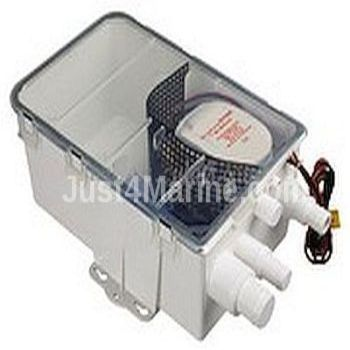 Waste Water Shower Drain Container + Euro pump 12V. Removable Filter