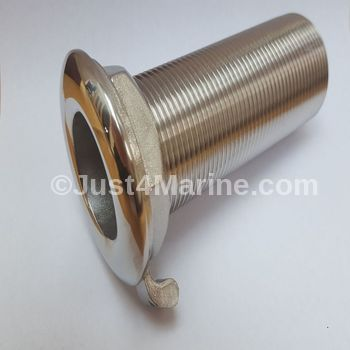 "Skin Fitting Deck Drain 316 Stainless Steel - 1"" Full Thread"