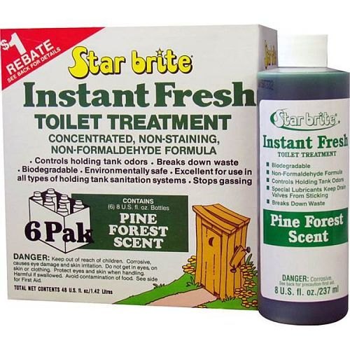 STAR BRITE Instant Fresh Toilet Treatment 6 x 950ml Pack - Pine Forest