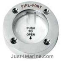 Fire Port Access Extinguish Fire - Stainless Steel Rim