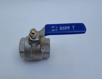 "Seacock Ball Valve 316 Stainless Steel - BSP 1"" 25mm"