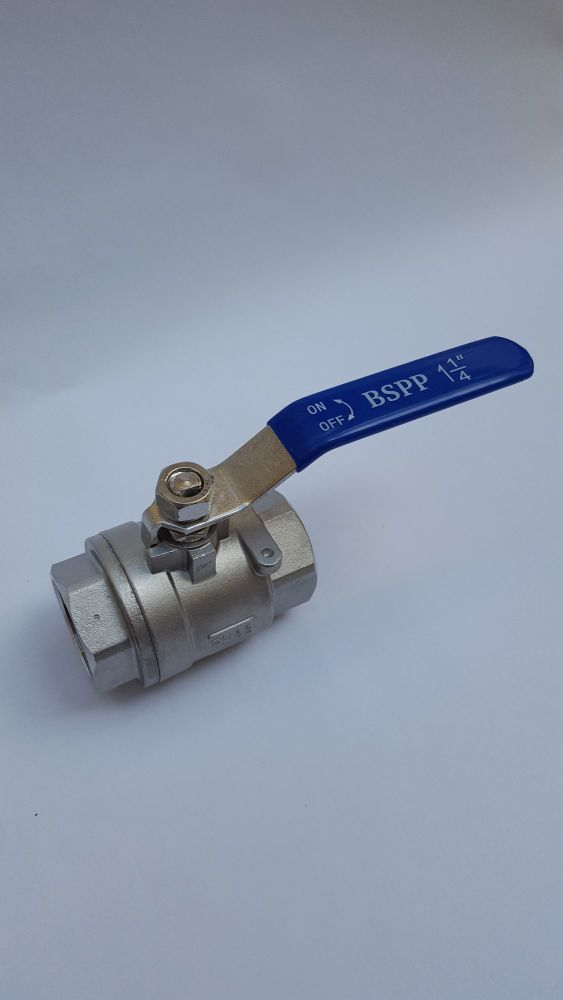 Seacock Ball Valve 316 Stainless Steel - BSP 1.25