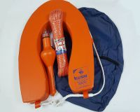 Horseshoe Lifebuoy Ring Rescue Set with Rope Line, Light & Cover