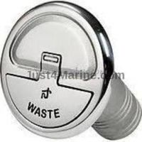 Waste Deck Filler 316 Stainless Steel Inlet 38mm 1.5