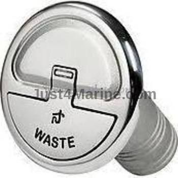 Waste Deck Filler 316 Stainless Steel Inlet 38mm 1.5""