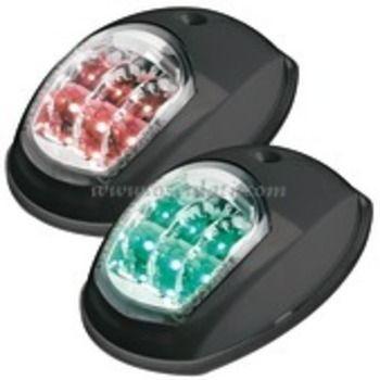 LED Evoled Navigation Port & Starboard Lights 12v 112.5 Degree Black