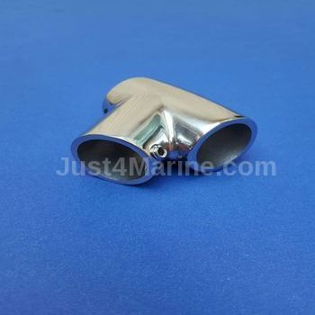Rail Connector Y 60 Degree Universal 316 Stainless Steel  - 25mm