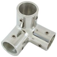 Rail Connector 3 Way Corner 316 Stainless Steel  - 25mm